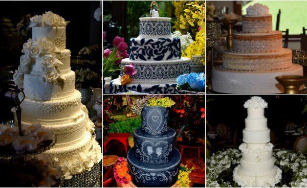 montagem bolos Vania Beatriz Cake Design