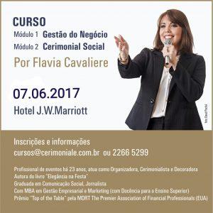 Curso de Gestão do Negócio e Cerimonial Social por Flavia Cavaliere